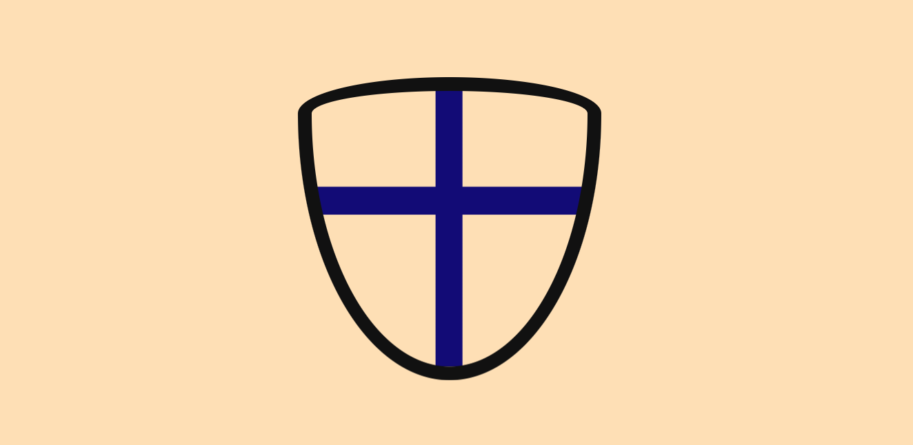 Shield with cross design