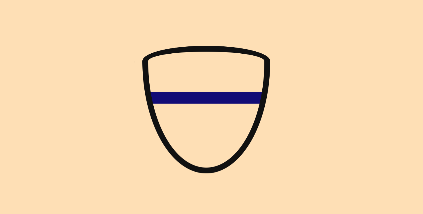 Shield with one line